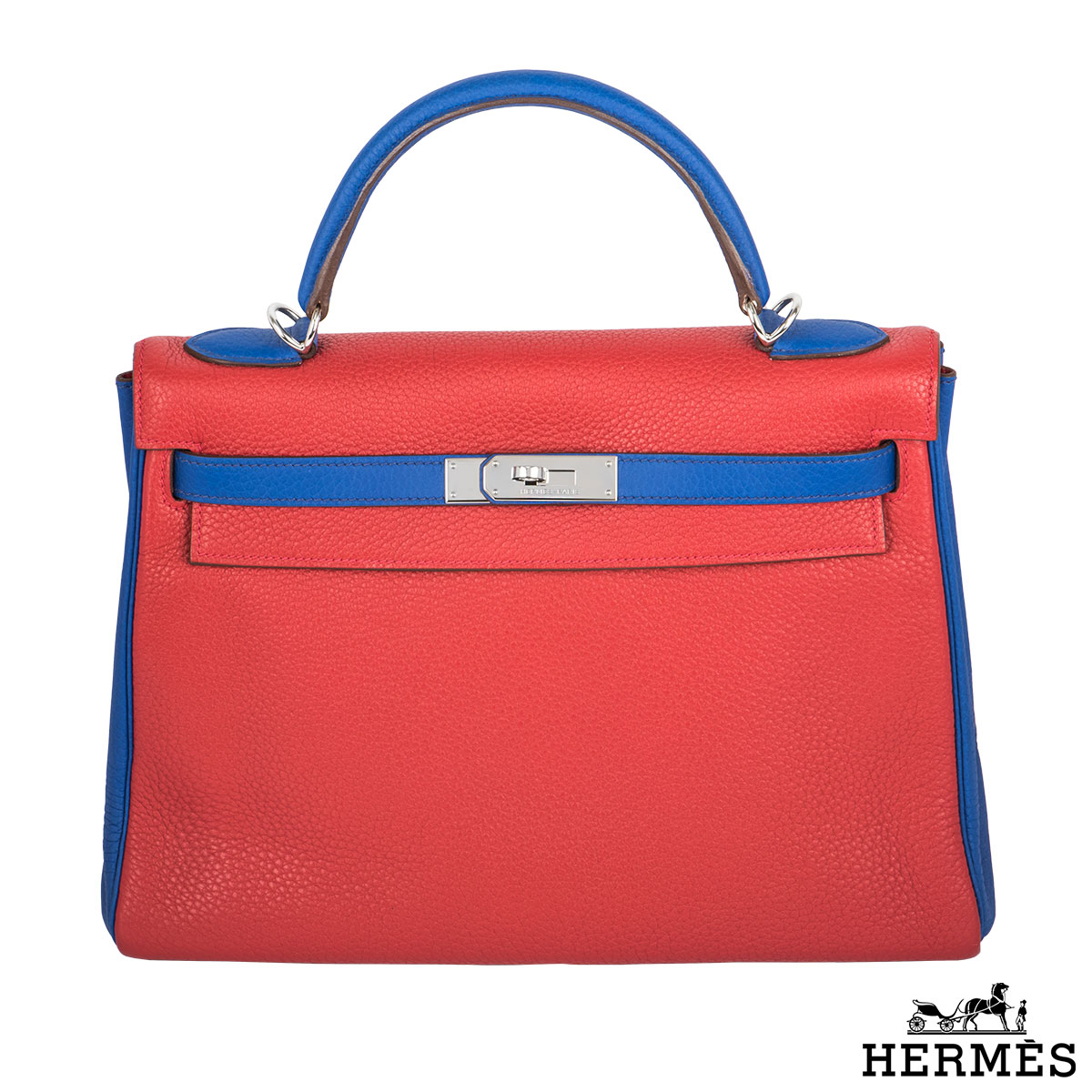 Hermès 32cm PHW Horseshoe Kelly Bag